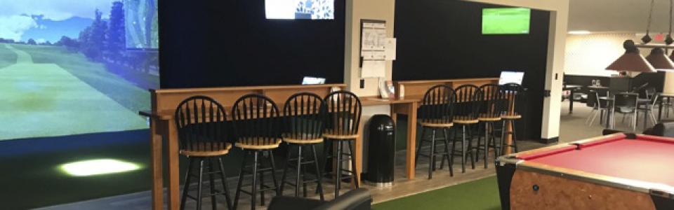 indoor golf simulator league